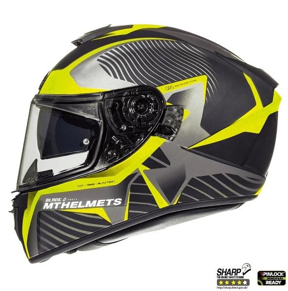 Casca integrala motociclete MT Blade 2 SV Blaster B4 galben mat (ochelari soare integrati) [0]