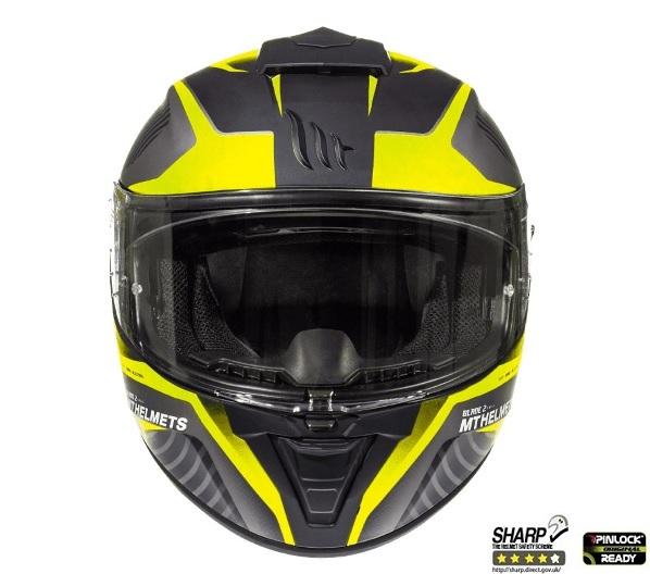 Casca integrala motociclete MT Blade 2 SV Blaster B4 galben mat (ochelari soare integrati) [2]
