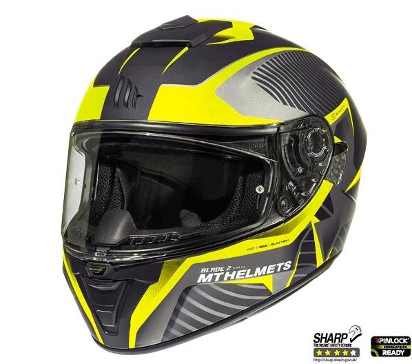 Casca integrala motociclete MT Blade 2 SV Blaster B4 galben mat (ochelari soare integrati) [1]