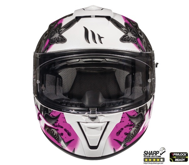 Casca integrala motociclete MT Blade 2 SV Breeze D8 roz perlat lucios (ochelari soare integrati) [2]
