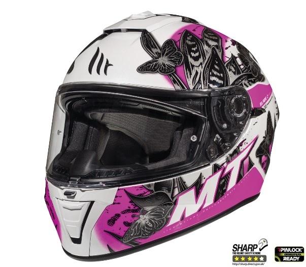 Casca integrala motociclete MT Blade 2 SV Breeze D8 roz perlat lucios (ochelari soare integrati) [1]