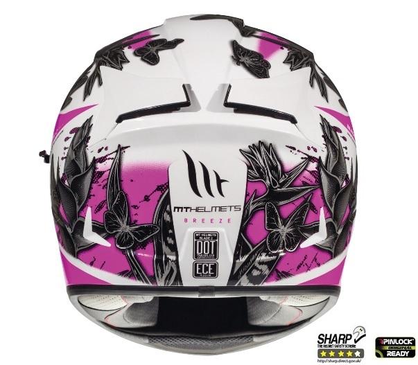 Casca integrala motociclete MT Blade 2 SV Breeze D8 roz perlat lucios (ochelari soare integrati) [3]