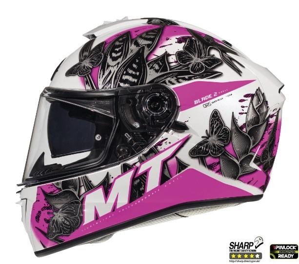 Casca integrala motociclete MT Blade 2 SV Breeze D8 roz perlat lucios (ochelari soare integrati) [0]