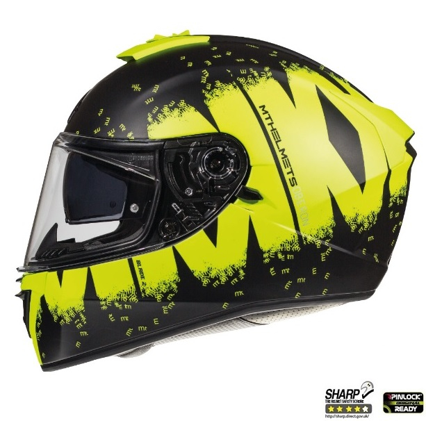 Casca integrala motociclete MT Blade 2 SV Oberon B3 galben fluor mat (ochelari soare integrati) [0]