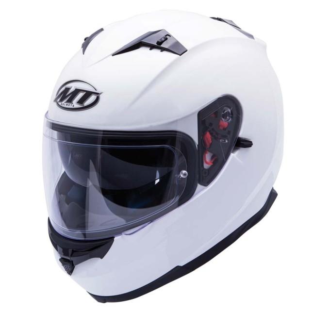 Casca integrala motociclete MT Blade SV alb lucios (ochelari soare integrati) [1]