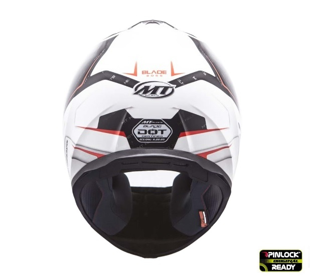 Casca integrala motociclete MT Blade SV Boss alb/negru lucios (ochelari soare integrati) [2]