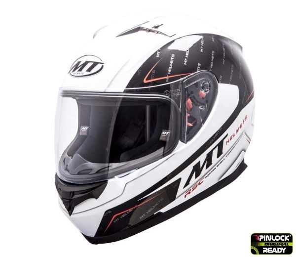 Casca integrala motociclete MT Blade SV Boss alb/negru lucios (ochelari soare integrati) [1]