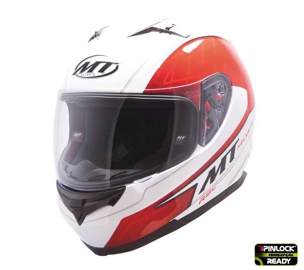 Casca integrala motociclete MT Blade SV Boss alb/rosu lucios (ochelari soare integrati) [1]