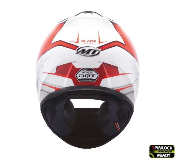 Casca integrala motociclete MT Blade SV Boss alb/rosu lucios (ochelari soare integrati) [3]