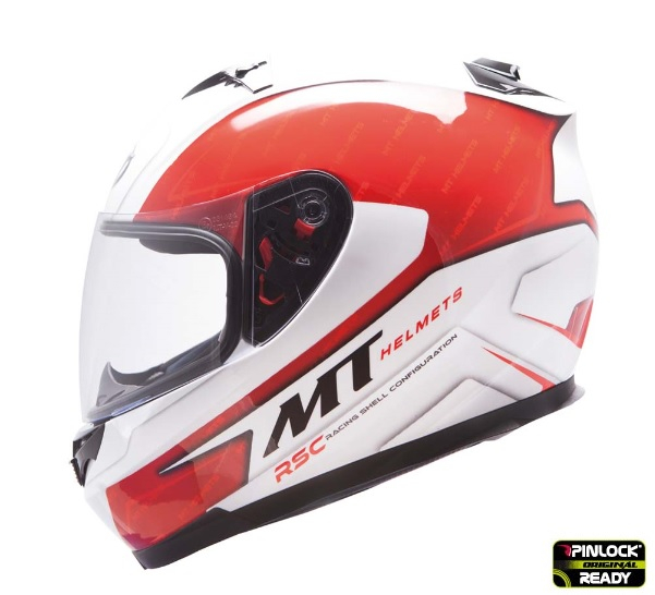 Casca integrala motociclete MT Blade SV Boss alb/rosu lucios (ochelari soare integrati) [0]