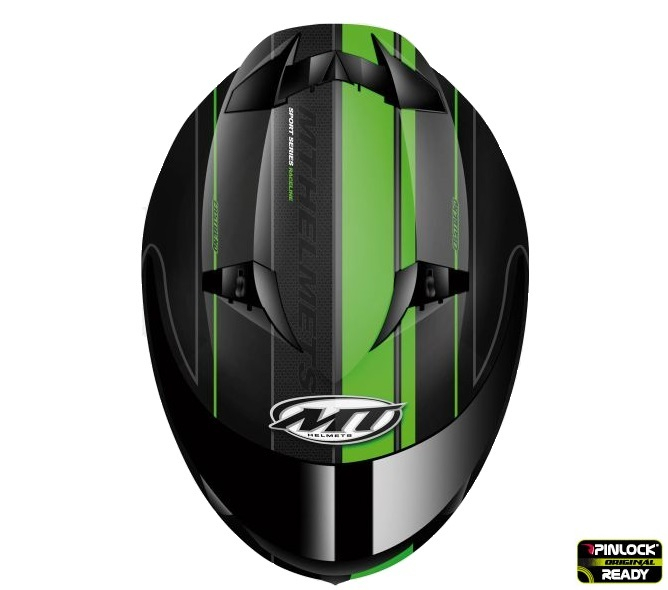 Casca integrala motociclete MT Blade SV Raceline negru/verde fluor mat (ochelari soare integrati) [2]