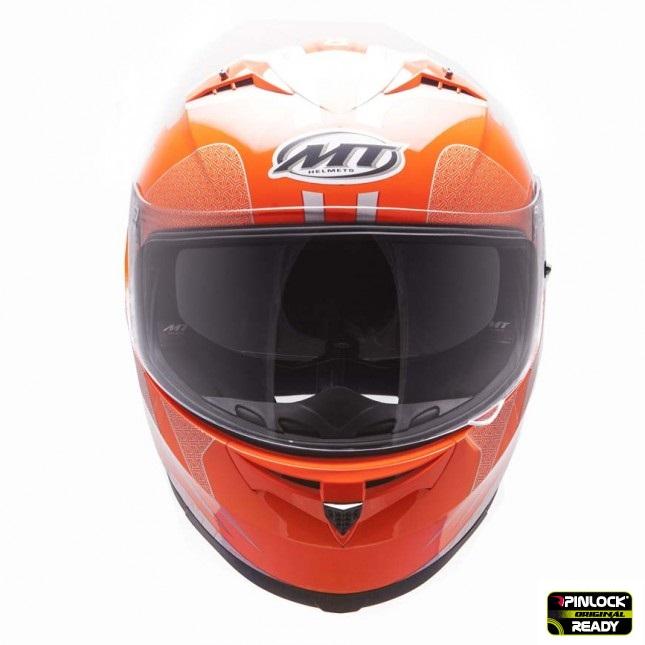 Casca integrala motociclete MT Blade SV Reflexion portocaliu fluor (ochelari soare integrati) [2]