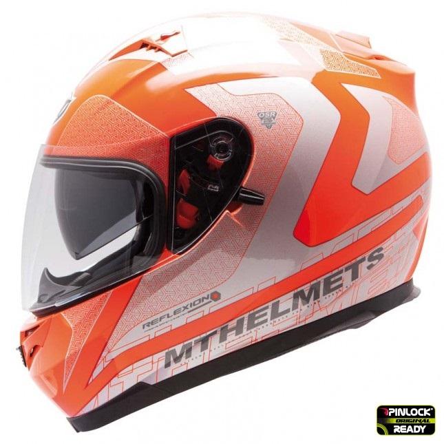 Casca integrala motociclete MT Blade SV Reflexion portocaliu fluor (ochelari soare integrati) [0]