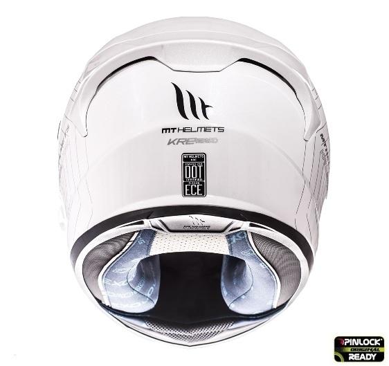Casca integrala motociclete MT KRE alb lucios (fibra sticla) – cu ochelari soare integrati [2]