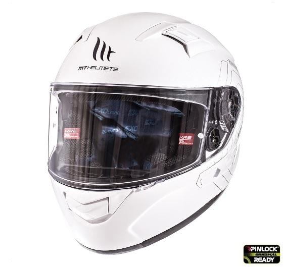 Casca integrala motociclete MT KRE alb lucios (fibra sticla) – cu ochelari soare integrati [3]