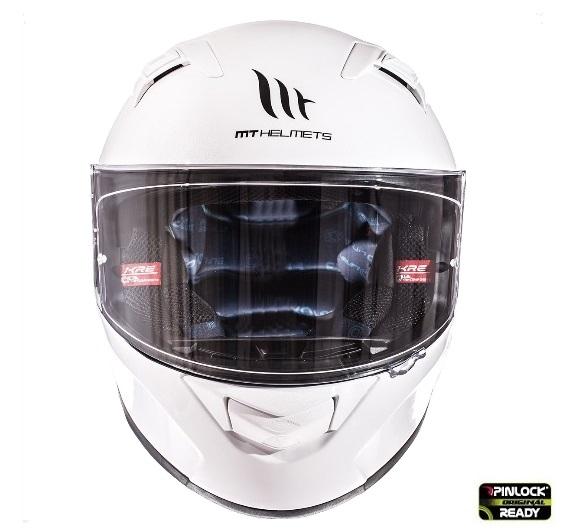 Casca integrala motociclete MT KRE alb lucios (fibra sticla) – cu ochelari soare integrati [1]