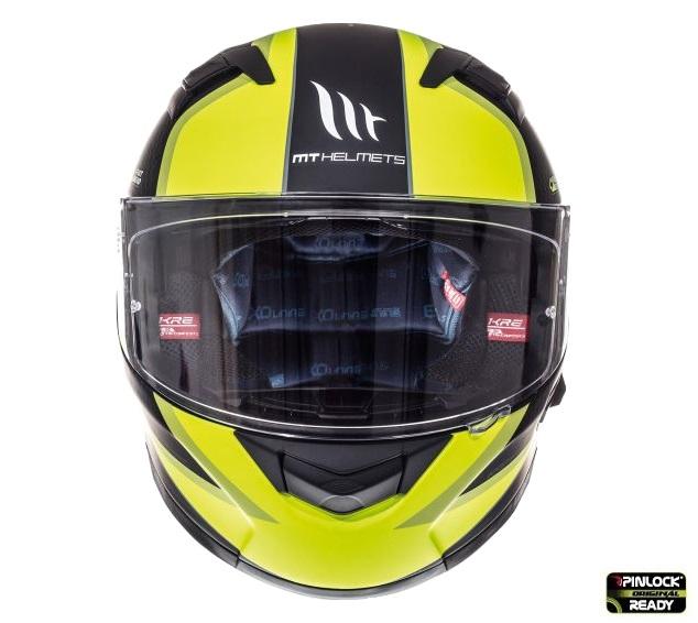 Casca integrala motociclete MT KRE SV Momentum negru/titanium/galben fluor mat (fibra sticla) – cu ochelari soare integrati [1]
