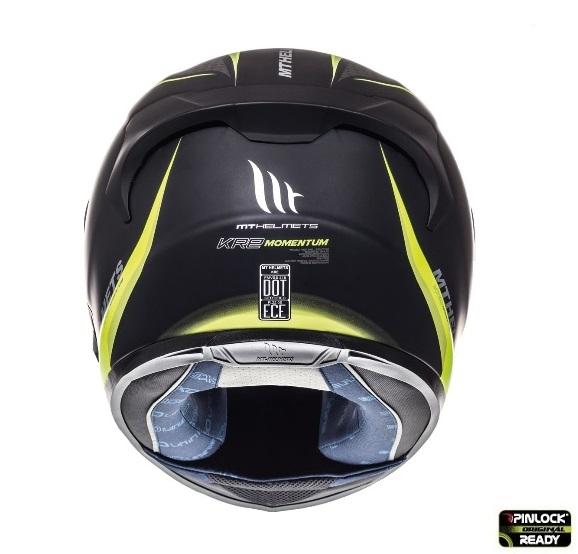 Casca integrala motociclete MT KRE SV Momentum negru/titanium/galben fluor mat (fibra sticla) – cu ochelari soare integrati [2]