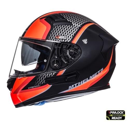 Casca integrala motociclete MT KRE SV Momentum negru/titanium/rosu intens mat (fibra sticla) – cu ochelari soare integrati [0]