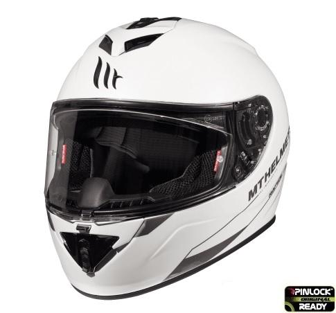 Casca integrala motociclete MT Rapide A0 alb lucios (fibra sticla) [1]