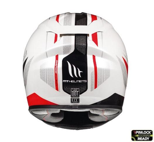 Casca integrala motociclete MT Rapide Duel D1 rosu/alb/negru luicos (fibra sticla) [3]