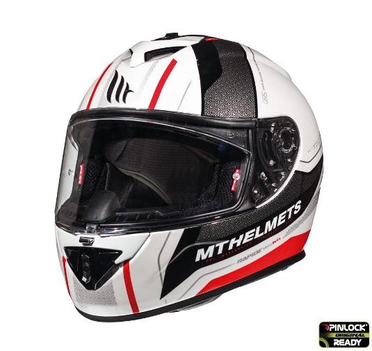 Casca integrala motociclete MT Rapide Duel D1 rosu/alb/negru luicos (fibra sticla) [1]
