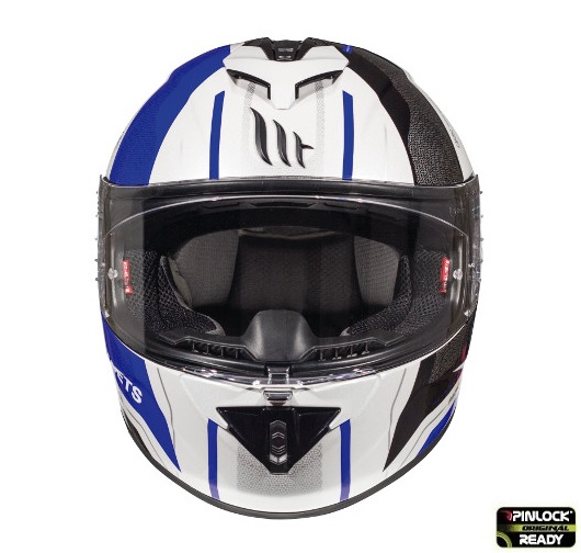 Casca integrala motociclete MT Rapide Duel D5 albastru/alb/negru lucios (fibra sticla) [2]