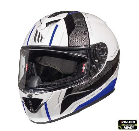 Casca integrala motociclete MT Rapide Duel D5 albastru/alb/negru lucios (fibra sticla) [1]