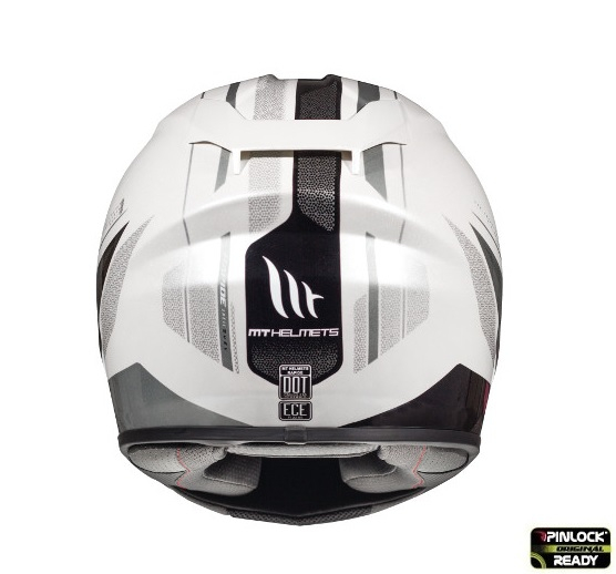 Casca integrala motociclete MT Rapide Duel D7 argintiu/alb/negru lucios (fibra sticla) [3]