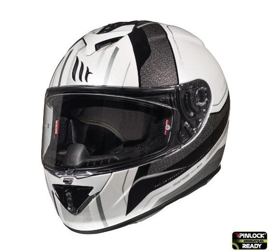 Casca integrala motociclete MT Rapide Duel D7 argintiu/alb/negru lucios (fibra sticla) [1]