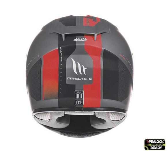 Casca integrala motociclete MT Rapide Overtake B1 rosu/negru mat (fibra sticla) [3]