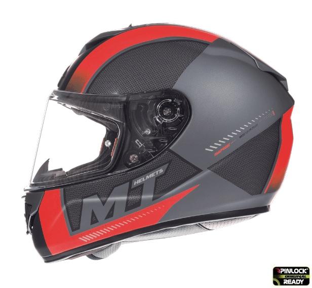 Casca integrala motociclete MT Rapide Overtake B1 rosu/negru mat (fibra sticla) [0]