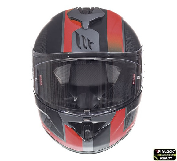Casca integrala motociclete MT Rapide Overtake B1 rosu/negru mat (fibra sticla) [2]