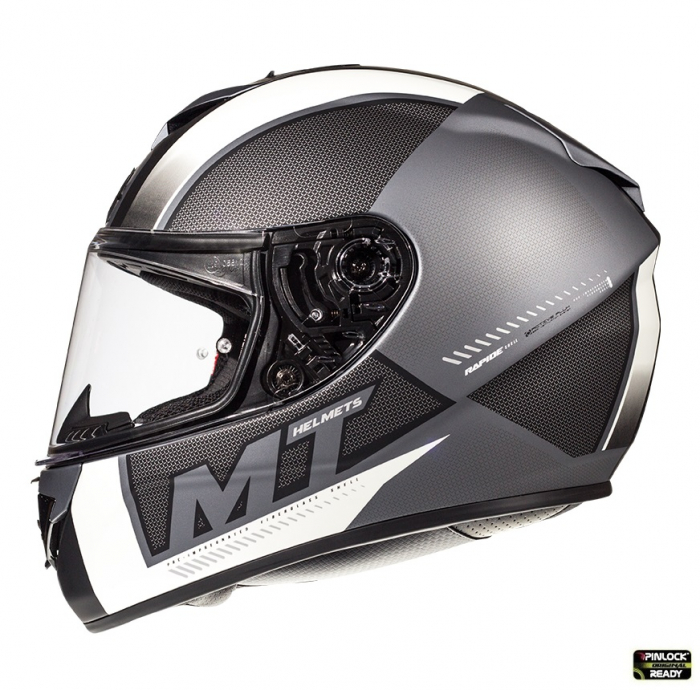 Casca integrala motociclete MT Rapide Overtake B6 gri/negru mat (fibra sticla) [0]