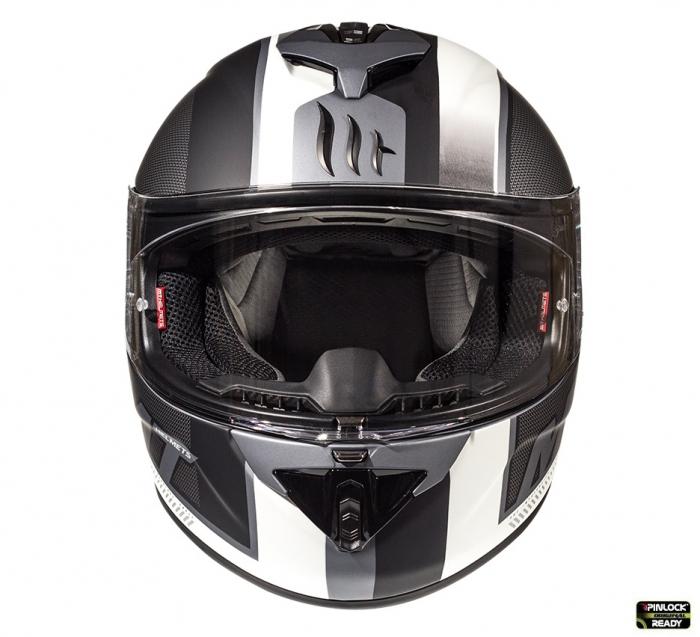 Casca integrala motociclete MT Rapide Overtake B6 gri/negru mat (fibra sticla) [3]