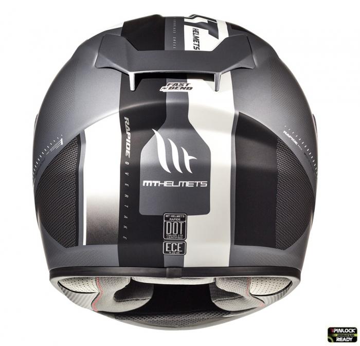 Casca integrala motociclete MT Rapide Overtake B6 gri/negru mat (fibra sticla) [2]