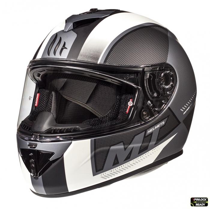 Casca integrala motociclete MT Rapide Overtake B6 gri/negru mat (fibra sticla) [1]