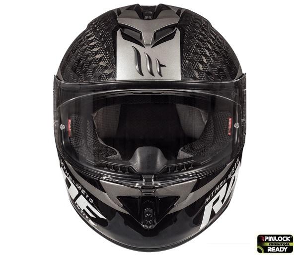 Casca integrala motociclete MT Rapide Pro Carbon C2 gri lucios – 100% carbon [2]