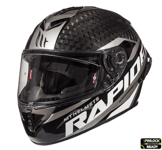 Casca integrala motociclete MT Rapide Pro Carbon C2 gri lucios – 100% carbon [1]