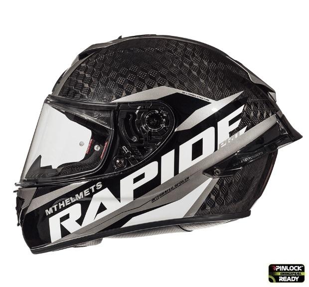 Casca integrala motociclete MT Rapide Pro Carbon C2 gri lucios – 100% carbon [0]