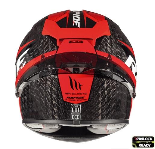 Casca integrala motociclete MT Rapide Pro Carbon C5 rosu lucios – 100% carbon [3]