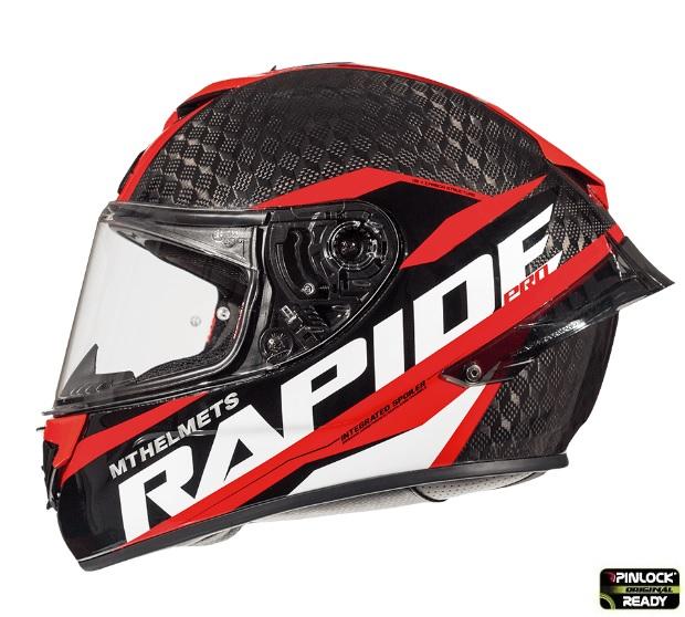 Casca integrala motociclete MT Rapide Pro Carbon C5 rosu lucios – 100% carbon [0]