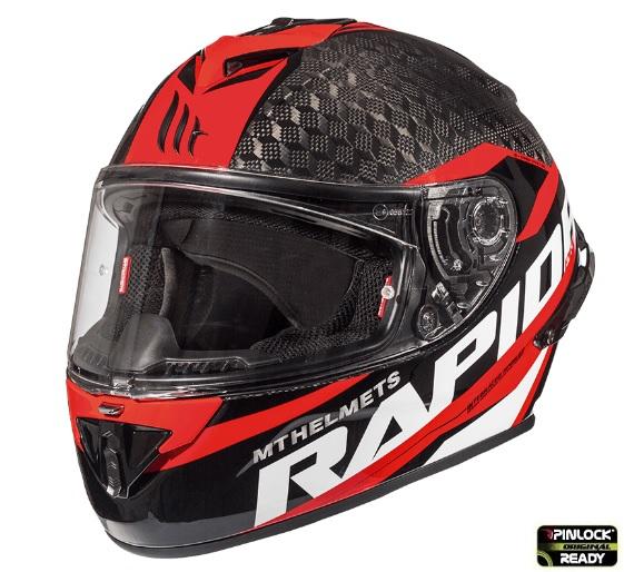Casca integrala motociclete MT Rapide Pro Carbon C5 rosu lucios – 100% carbon [1]
