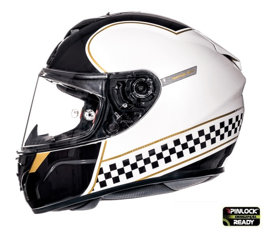 Casca integrala motociclete MT Rapide Revival B1 alb/negru lucios (fibra sticla) [0]