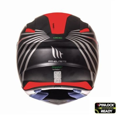 Casca integrala motociclete MT Targo Doppler A0 rosu fluor/negru mat [3]