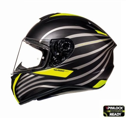 Casca integrala motociclete MT Targo Doppler A1 galben fluor/negru mat [0]