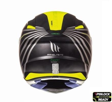 Casca integrala motociclete MT Targo Doppler A1 galben fluor/negru mat [3]