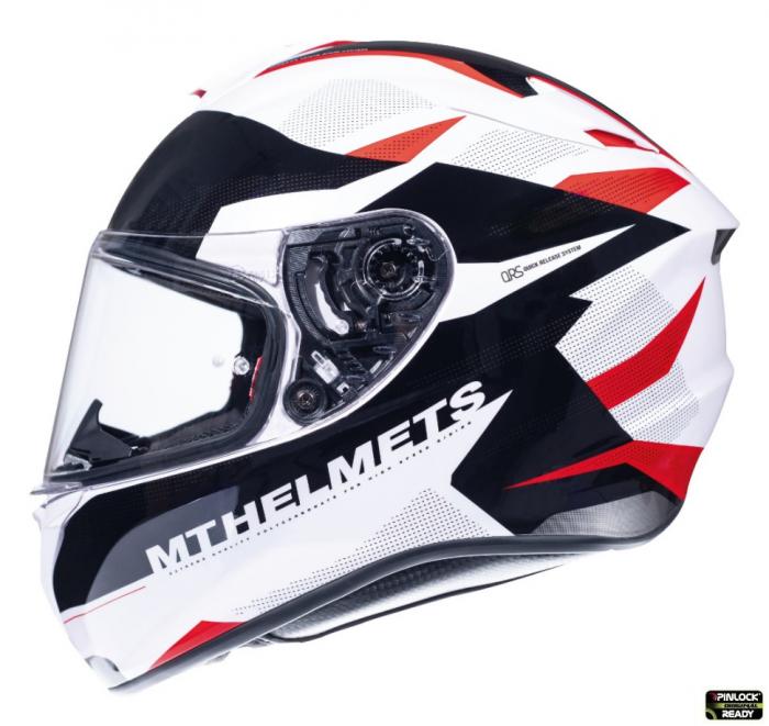 Casca integrala motociclete MT Targo Enjoy D5 rosu/alb/negru lucios [0]