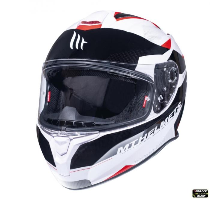 Casca integrala motociclete MT Targo Enjoy D5 rosu/alb/negru lucios [1]