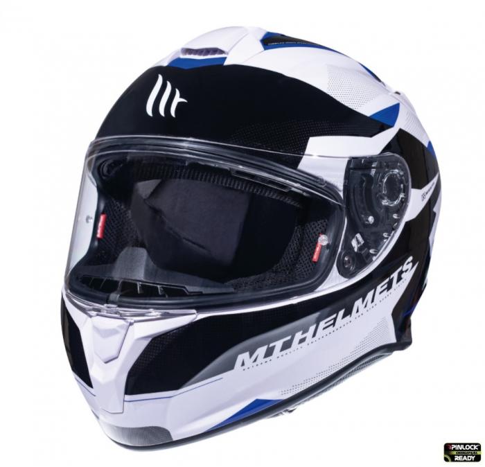 Casca integrala motociclete MT Targo Enjoy D7 albastru/alb/negru lucios [1]